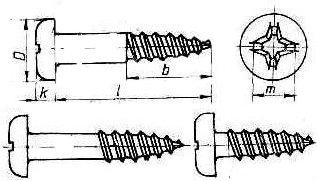 Surub cu cap cilindric bombat si locas cruciform, pentru lemn