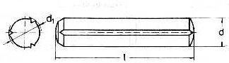 Stift cilindric crestat